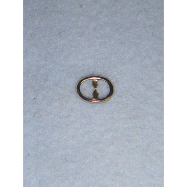  Buckle - Plain Oval Silver