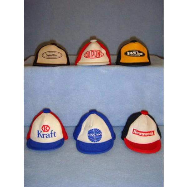 " Cloth Cap w_Logo - 3 3_4"" Assorted"