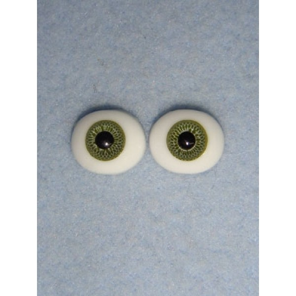 |Doll Eye - Flat Back Glass - 10mm Green