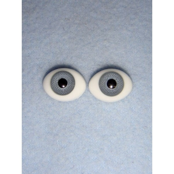  Doll Eye - Flat Back Glass - 14mm Gray