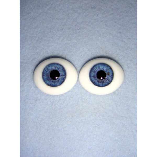 |Doll Eye - Flat Back Glass - 24mm Blue