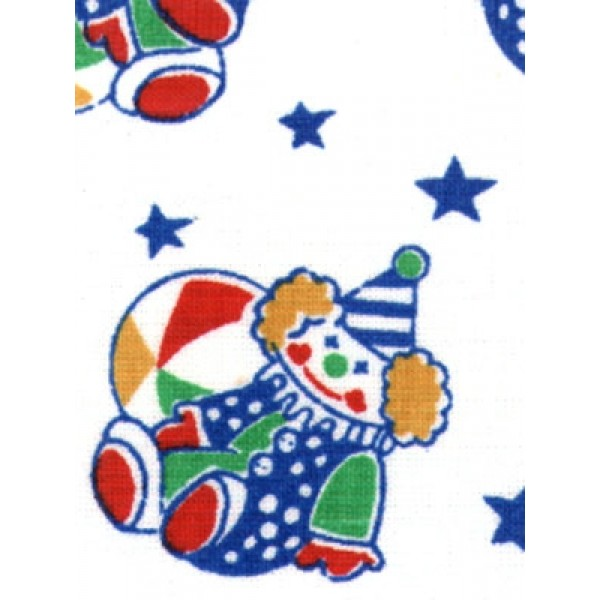 |Fabric-Primary Clowns Cotton-White