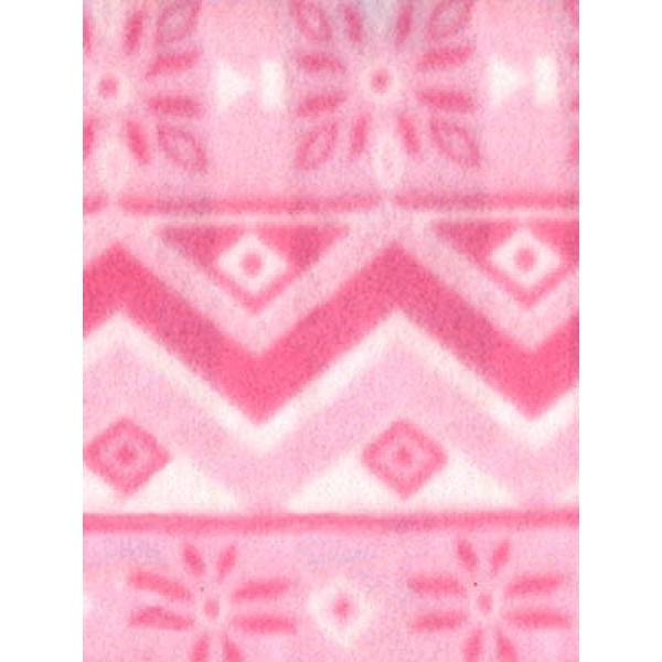 |Fabric-Snowflake Polar Fleece-Pink