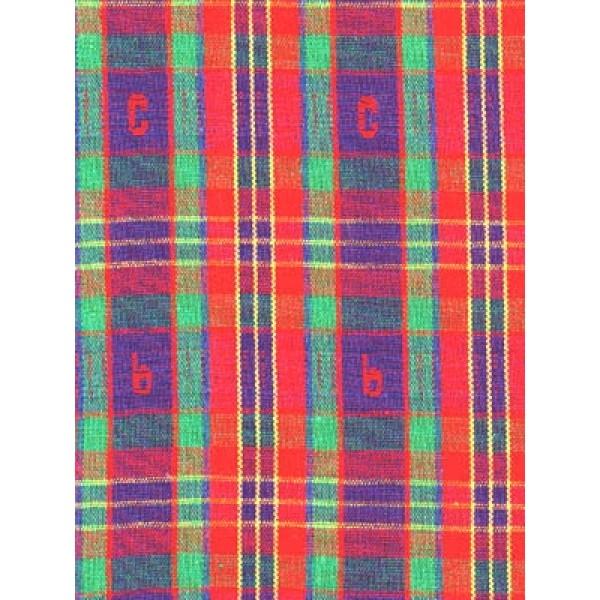|Fabric -ABC Plaid-Red Blue & Green