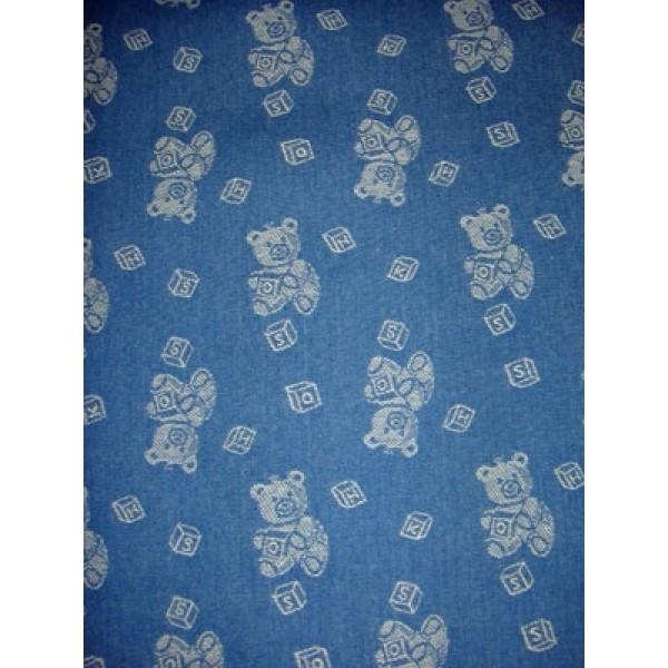 |Fabric - Baby Bears Denim - Blue