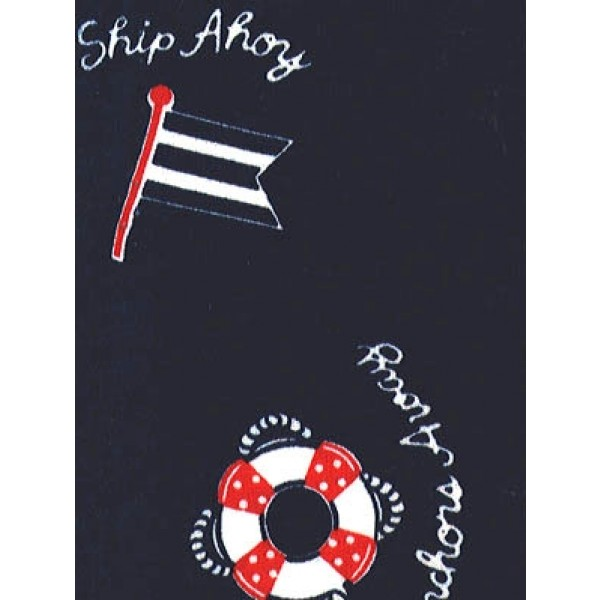 |Fabric - Ship Ahoy Knit -Navy w_Re