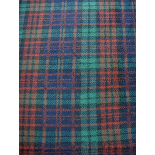 |Fur Fabric - Extra Short - Green Plaid