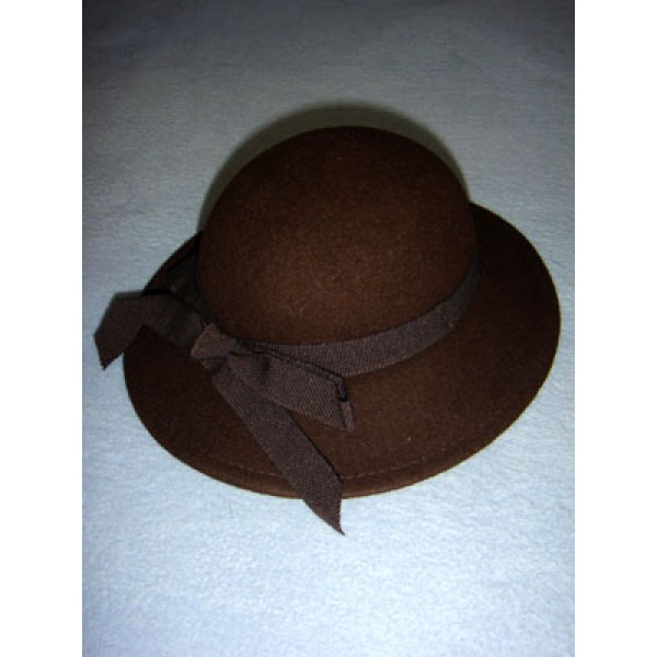"|Hat - 100% Wool - 13 1_2"" Dark Brown"