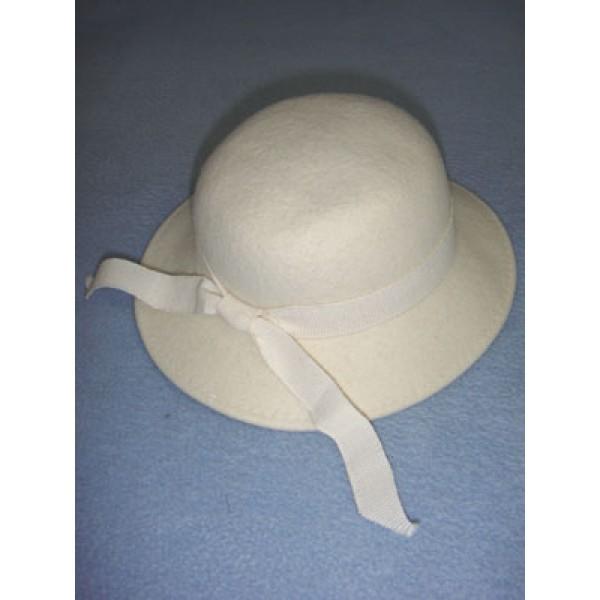 "|Hat - 100% Wool - 13"" Cream"