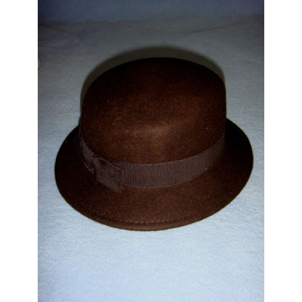"|Hat - 100% Wool - 17"" Dark Brown"