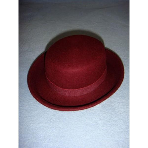 "|Hat - 100% Wool Felt Flat Top - 13"" Bordeaux"