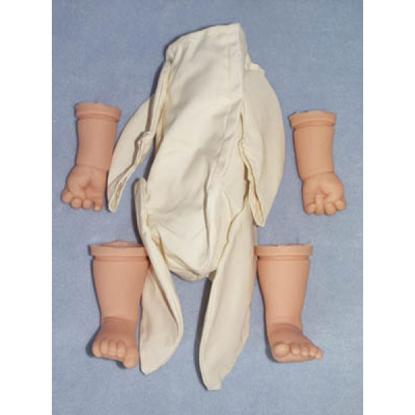 "|Infant Body Pack - Translucent - 19"" Doll"