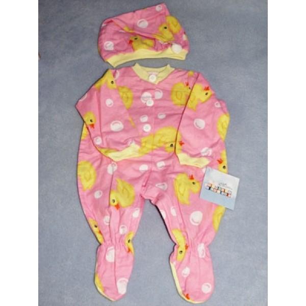 " Pink Sleeper & Cap 19-21"" Dolls"