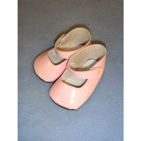 "|Shoe - Patent Button - 2 3_4"" Pink"