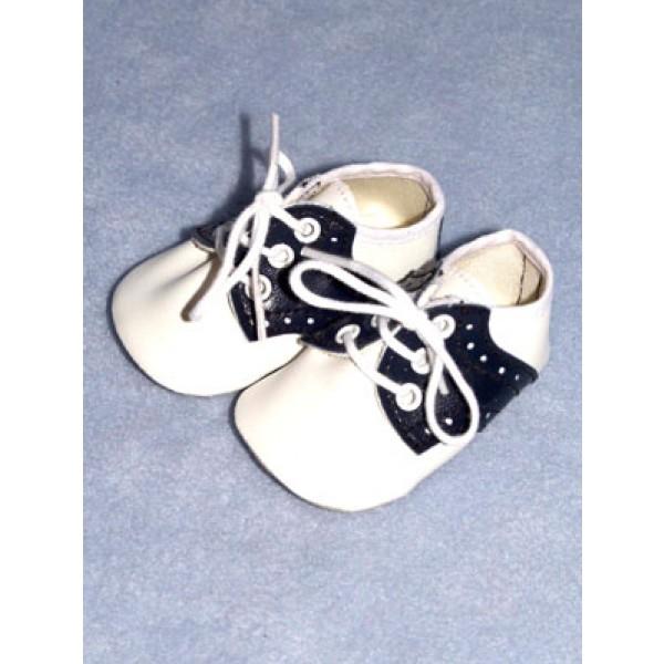 " Shoe - Saddle Oxford - 3 1_8"" Navy_White"