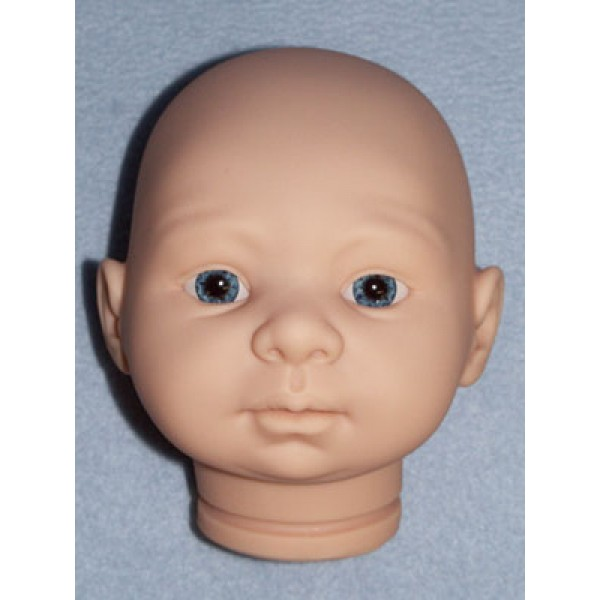  Tina Doll Head w_Blue Eyes - Unpainted