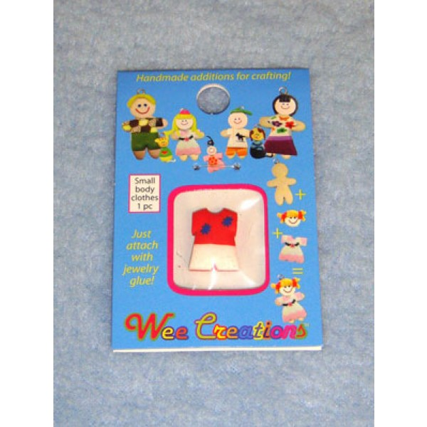 |WC Child Outfit - Red Top w_Blue Dots & White Pants