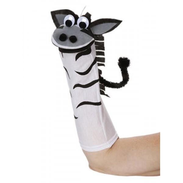 |Zebra Sock Friends Puppet Kit