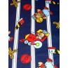  Navy & White Railroad Knit Fabric - 1 yd